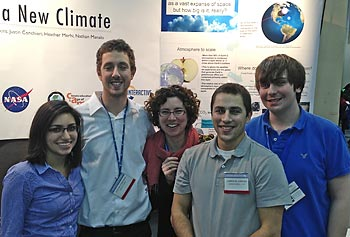 Students Showcase our Interactive Climate Tools to Enthusiastic Crowds