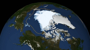 Arctic-ice-shrinkage